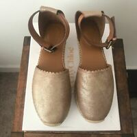 See by Chloe Gold Espadrilles Size 41