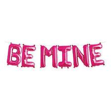 "Spritz BE MINE VALENTINES DAY BALLOON BANNER KIT 16"" pink FREE SHIPPING!!"