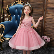 Flower Girls Tutu Dress Bridesmaid Princess Pageant Formal Dresses Kid Christmas