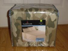 NEW Cuddl Duds Camo Camouflage Heavyweight Flannel Sheet Set King Size $129.99