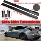 78.7'' Carbon Fiber Side Skirt Lip Splitter Panel For Tesla Model 3 2017-2021 CT