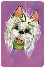 Stardust Maltese Dog Miniature Playing Cards Deck Vintage