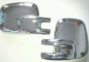 T4 MIRROR COVERS CHROME for TRANSPORTER & CAMPER VANS 1990-2003 RIGHT HAND DRIVE