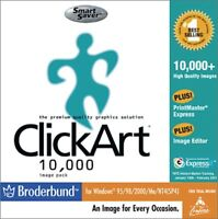 Smart Saver Click Art 10,000 Broderbund-PC Computer Software Program CD-Rom