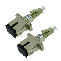 2pcs LC Male - SC Female Fiber Optic Adapter MM 62.5/125  Hybrid Optical Adaptor