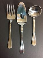 Vintage Stainless Oneidaware Pennington Serving Set of 3 Fork Ladle Server