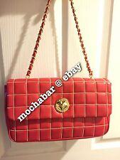 NWT Beautiful Red Quilted MOSCHINO Chain Bag Handbag Cute Heart      capsule boy