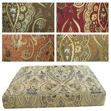 Box Shape Seat/Back Cover*Damask Chenille Chair 3D Cushion Case*Custom Size*Wk5