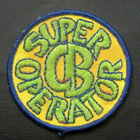 CB SUPER OPERATOR EMBROIDERED SEW ON ONLY PATCH ADVERTISING UNIFORM 3""