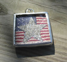 """Sweet Land of Liberty"" Glitter Star Charm by IMCC & Crystal Drop by jewel kade"