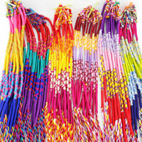 10/50Pcs Wholesale Jewelry Lot Braid Strands Friendship Cords Handmade Bracelets