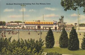 BB34. Vintage US Postcard. Birdland Municipal Swimming Pool. Das Moines. Iowa