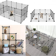 Modular Cage Hutch Guinea Pig Puppy Dog Rabbit Cat DIY House Metal Cube Shelf