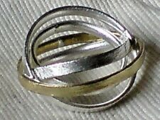 SOLID STERLING SILVER RING with 3 SINGLE BANDS UK.sizes L & N   £29.95 NWT