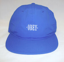 OBEY Courtland Blue Six Panel Mens Unstructured Strapback Cap Hat