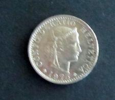 Münze 20 Rappen Schweizer Franken 1975 aus Umlauf gültiges Zahlungsmittel