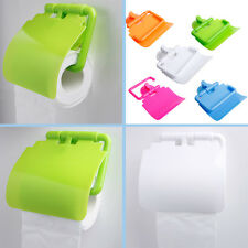 Wall Mounted Plastic Suction Cup Bathroom Toilet Paper Roll Holder With Cover