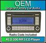 VW RCD 300 MP3 CD player radio, Touran car stereo head unit with radio code