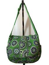Vera Bradley Cupcake Green Messenger Lap Top Large Bag Flap Closure