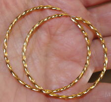 14K Gf Gorgeous Gold Filled Perfect Hoop 42Mm Twisted Large Hoop Earrings