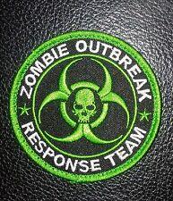 ZOMBIE HUNTER GREEN OUTBREAK RESPONSE TEAM USA SWAT HOOK FASTENER PATCH