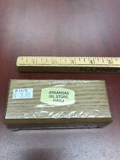 Arkansas Sharpening Stone Whet Oil Oilstone White Stone Honing Hard w/ Cedar Box