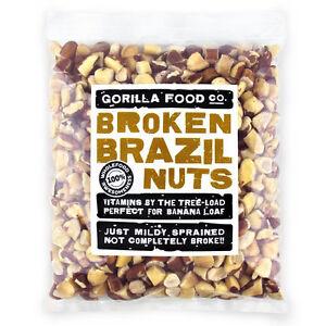 Gorilla Food Co. Brazil Nuts Broken  - 200g-3.2kg (Great value £ per 1kg)