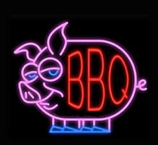 BBQ Barbecue Grill Neon Sign Light Beer Bar Pub Wall Decor Art Xmas Gift17''x14'