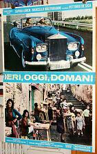 soggettone originale IERI, OGGI, DOMANI Sophia Loren Mastroianni De Sica 1963