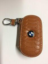 Funda Remoto Clave De Estilo De Cuero Para BMW // M 1 2 3 4 5 Cocodrilo Estilo Marrón
