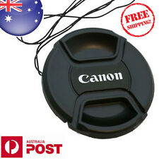 CANON LENS CAP - 77mm Camera Snap-on Len Cap Cover with cord - AUS POSTAGE Z030F