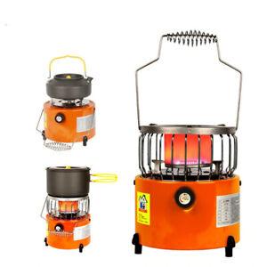 Portable Camping Stove Gas Heater Outdoor Winter Warmer Propane Butane Heating