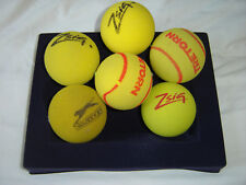 6 USED SOFT SPONGE TENNIS BALLS - SHORT TENNIS - JUNIOR ACADEMY COACHING