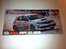 CP POSTCARD CARTOLINA SUBARU IMPREZA CARRET RALLY MONTE CARLO RALLYE WRC 2014