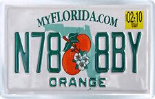 FLORIDA USA LICENSE PLATE FRIDGE MAGNET SOUVENIR IMAN NEVERA