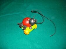 1999 papa geppetto pull along wood lady bug made canada