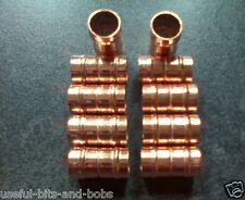 15mm x ten Coupling Straight Copper Solder Ring Yorkshire Plumbing Fitting 10