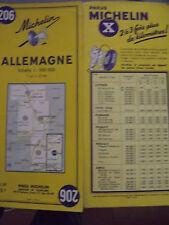 carte michelin 206 Allemagne 1959