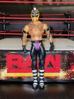 WWE Rey Mysterio Mask MATTEL Basic Series 104 Wrestling Figure NXT ACTION