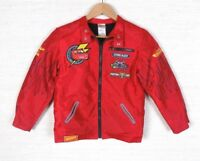 Disney Store Cars Boys Size Large Jacket Flames Lightning McQueen