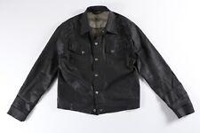NUDIE Jeans Black Coated Conny Trucker Jacket XL Denim Jean
