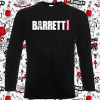 Barrett Firearms Gun Logo Men's Long Sleeve Black T-Shirt Size S-3XL