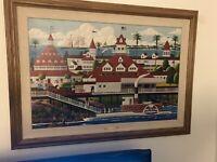 Harry Wysocki Original Oil On Canvas Hotel Del Coronado