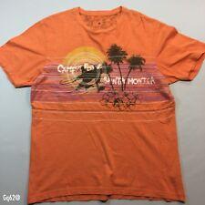Mens Santa Monica Orange Beach T Shirt F&F Size M P-P 20 Length 26