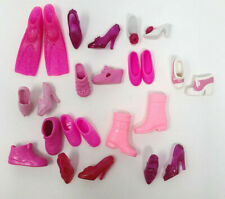 Barbie Doll Shoes 12 Pairs Pink Heels Boots Flats Tennis Shoes Mixed Lot 1