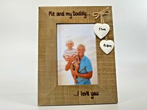 Me And My Daddy / Grandad Personalised Driftwood Photo Frame   Birthday Gift