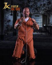 "Men Muscular 12"" Figure Toys 1/6 Scale Jason Statham Male Prisoner Clothing Set"