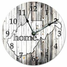 """WEST VIRGINIA RUSTIC HOME STATE CLOCK - Large 10.5"""" Wall Clock - 2258"""