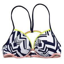 Victoria's Secret Swim Top Fabulous Halter Padded Push Up Bikini Swimsuit Vs New