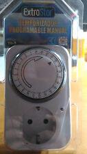 Reloj Temporizador / Programador mecánico enchufe 15mn 3680W (24h)
